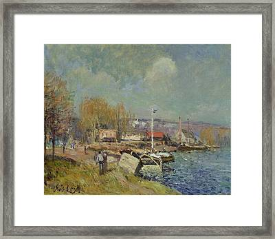 The Seine At Port-marly Framed Print by Alfred Sisley