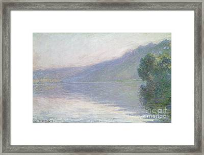 The Seine At Port Villez Framed Print