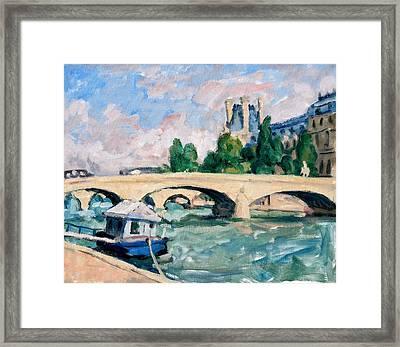 The Seine Paris Framed Print