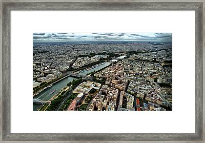 Framed Print featuring the photograph The Seine River 2 by Edward Myers