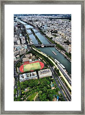 Framed Print featuring the photograph The Seine River by Edward Myers