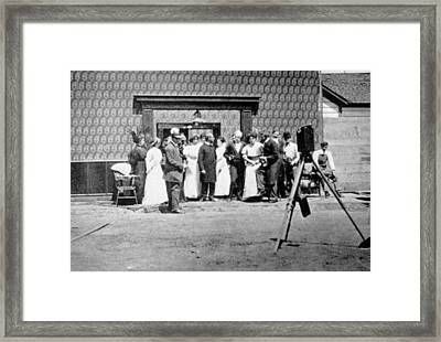 The Selig Studio, First Film Studio Framed Print