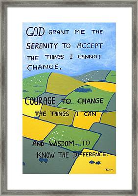 The Serenity Prayer Framed Print by Eamon Reilly