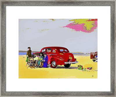 The Set Framed Print by Charles Shoup