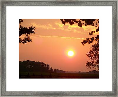 The Setting Sun Framed Print
