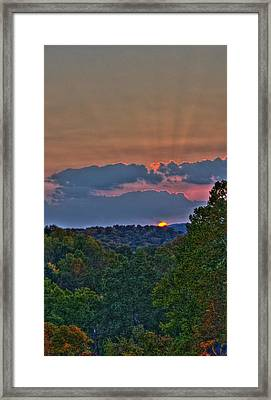 The Setting Sun Framed Print by Shirley Tinkham