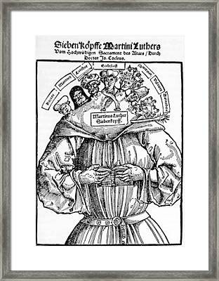 The Seven Heads Of Martin Luther Framed Print by Everett
