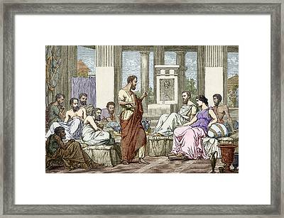 The Seven Sages Of Greece, 7th Century Bc Framed Print