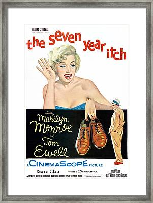 The Seven Year Itch, Marilyn Monroe Framed Print by Everett