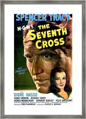 The Seventh Cross, Spencer Tracy, Signe Framed Print by Everett