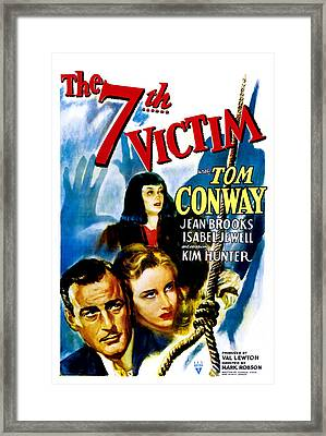 The Seventh Victim, Tom Conway, Kim Framed Print by Everett