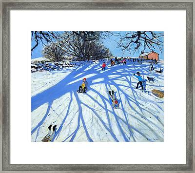 The Shadow Derbyshire Framed Print by Andrew Macara
