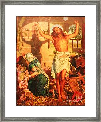 The Shadow Of Death Framed Print by Pg Reproductions