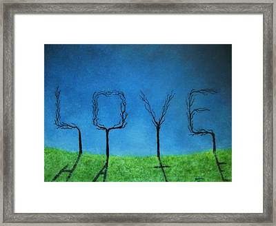 Framed Print featuring the painting The Shadow Of Love Is Hate by Edwin Alverio