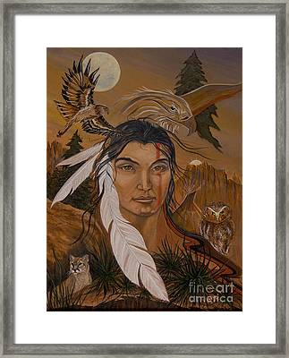 The Shaman Framed Print by Jeanette Sacco-Belli