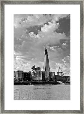 The Shard London Black And White Framed Print