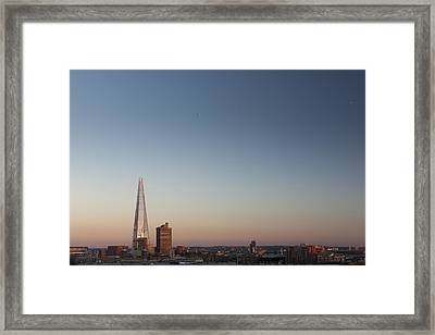 The Shard Towering Above South Bank Framed Print by Pawel Toczynski