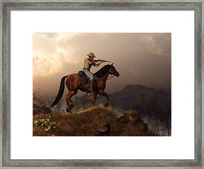 The Sharpshooter Framed Print by Daniel Eskridge