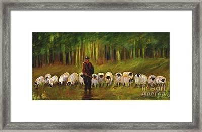 The Sheep Herder Framed Print