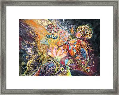 The Shining Of The Orange Tree Framed Print by Elena Kotliarker