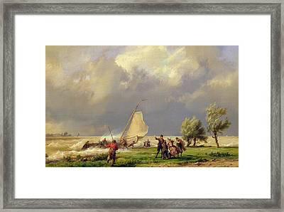 The Shipwreck Framed Print by Hermanus Koekkoek