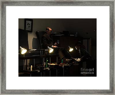 The Shoe Shine Girl - 5d17836 Framed Print by Wingsdomain Art and Photography