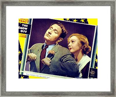 The Show-off, Spencer Tracy, Madge Framed Print by Everett