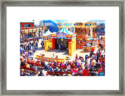 The Showman . Pier 39 . San Francisco California . 7d14337 Framed Print by Wingsdomain Art and Photography