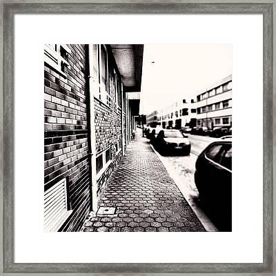 The #sidewalk Framed Print