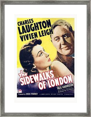 The Sidewalks Of London, Vivien Leigh Framed Print