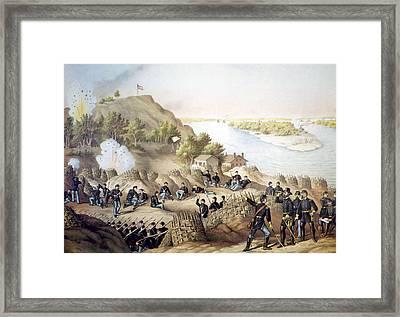 The Siege Of Vicksburg, May18-july 4 Framed Print