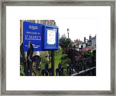 The Sign Says It All Framed Print