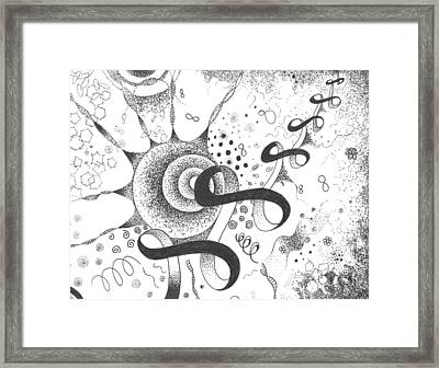 The Silent Dance Of The Particles Framed Print
