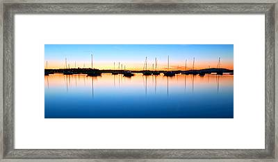 The Silent Fleet Framed Print