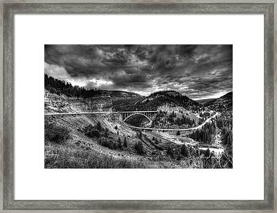The Silver At Sunset Framed Print by Darryl Gallegos