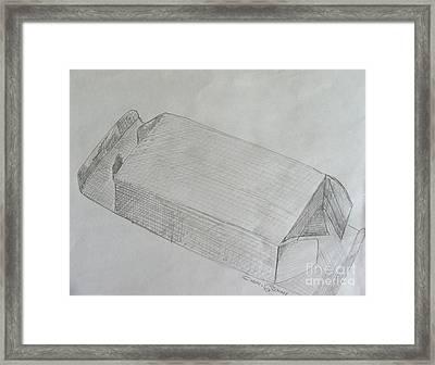 The Simple Box Framed Print by Caroline Street