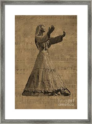 The Singer Framed Print by Malu Couttolenc