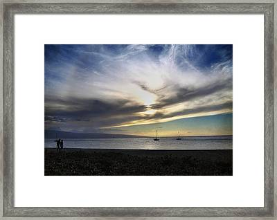 The Sky Is Exploding Framed Print by Laurie Search