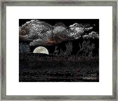 Framed Print featuring the digital art The Sky Is Low by Rhonda Strickland