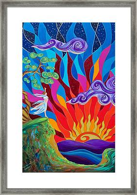 The Skys The Limit Framed Print by Marion Bradish