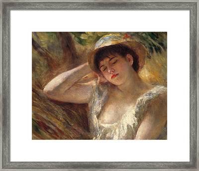 The Sleeper Framed Print by Pierre Auguste Renoir