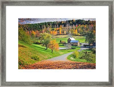 The Sleepy Hollow Farm Of Pomfret Framed Print by Thomas Schoeller