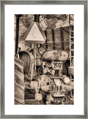 The Slow Mover Bw Framed Print by JC Findley