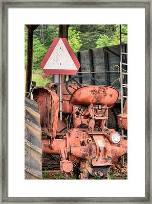The Slow Mover Framed Print by JC Findley