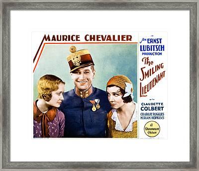 The Smiling Lieutenant, From Left Framed Print by Everett
