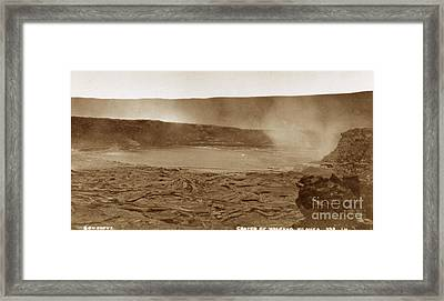 The Smoking Crater Of The Active Framed Print