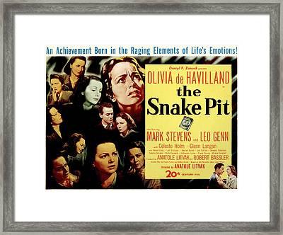 The Snake Pit, Olivia De Havilland Framed Print by Everett