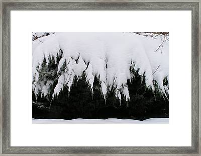 The Snow Cave Framed Print