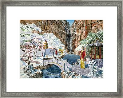 Framed Print featuring the painting The Snow Princess by Anthony Lyon