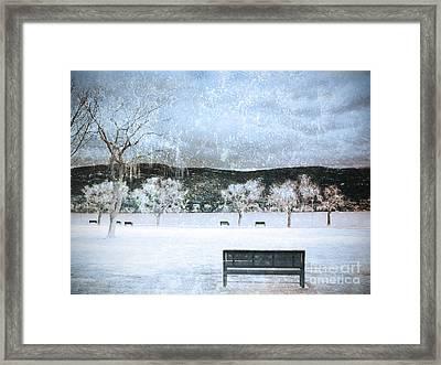 The Snow Storm Framed Print